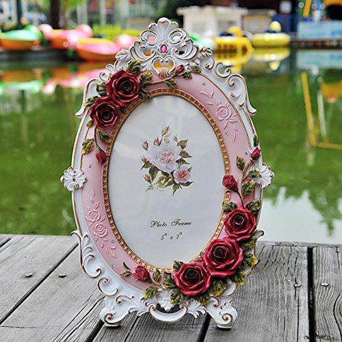 XBR Fotos de boda _ resina europea de Rose nudo coreano Photo Studio creativo mesa resina marco...