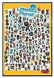 Little Big Planet 3 Poster Charaktere (94x63,5 cm) gerahmt in: Rahmen blau