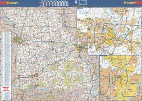 Missouri State Offizielle Wandkarte, laminiert, 48 x 70 cm