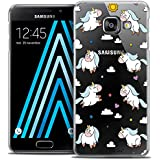 Caseink - Coque Housse Etui Samsung Galaxy A3 2016 (A310) [Crystal Motif HD Collection Fantasia Design Licorne In the Sky - Rigide - Ultra Fin - Imprimé en France]