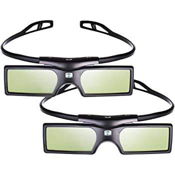Pergear® 3D Active Shutter Glasses Bluetooth Eyewear Glasses for Samsung  Panasonic LG Bluetooth 3D TVs (2 PCS) 505ddfebf6