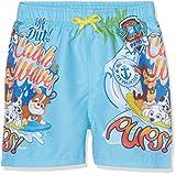 Leomil Fashion Jungen Badeshorts Swimshort, Blau (Turquoise/Multi 039), 110 (Herstellergröße: 5)