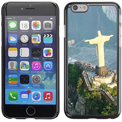 Graphic4You Christ The Redeemer Postkarte Ansichtskarte Design Harte Hülle Case Tasche Schutzhülle für Apple iPhone 6 Plus / 6S Plus Design #9