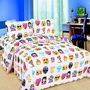 emoji pizza design double parure de lit polyester coton. Black Bedroom Furniture Sets. Home Design Ideas
