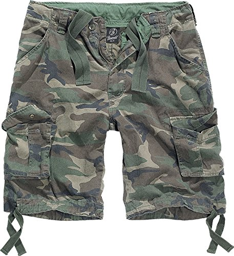 Brandit Herren Urban Legend Shorts, Mehrfarbig (Woodland 10), 56 (Herstellergröße: XXL) Bdu Woodland Camo