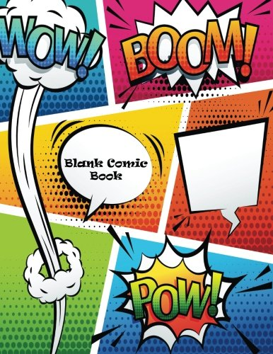 Blank Comic Book: Idea to Create Comic, 120 pages, 8.5 x 11 inches, Draw your own Comics, Variety of Templates por Comic Blank Book