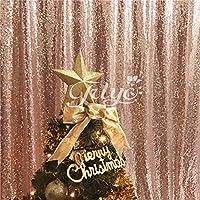 trlyc 4(152* Oro, Oro Rosa, Plata, Chamapgne día de Navidad brillante, telón de fondo de lentejuelas tela de lentejuelas, materiales sintéticos, trlyc rose gold, 4FT*7FT sequin backdrop