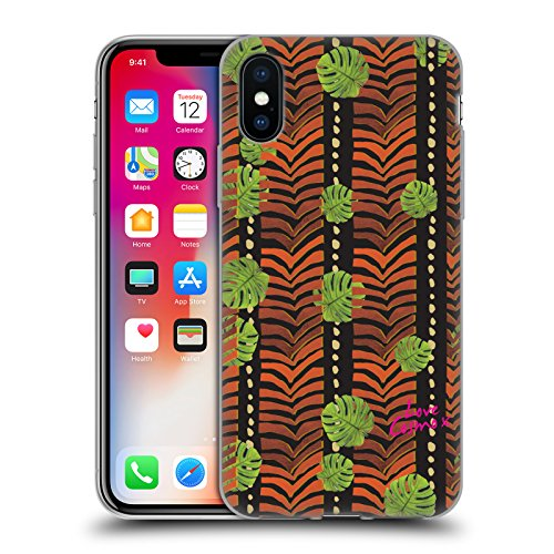 Official Cosmopolitan Leopard Logo Animal Print Soft Gel Case for Apple iPhone X Jungle