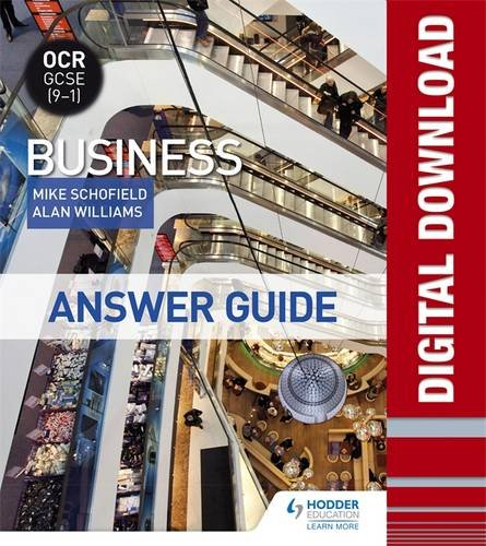 OCR GCSE (9-1) Business Answer Guide