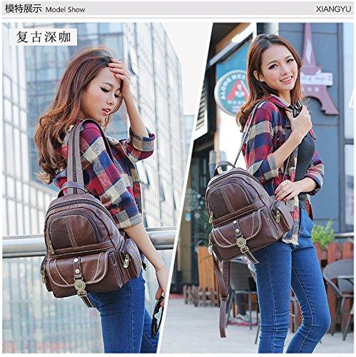 Lycailcy  LYC-Lycailcy-80290-5, Sac à main porté au dos pour femme Marron Light Brown(9.3 x 5.5 x 11.8 inches) taille unique Dark Brown(9.3 x 5.5 x 11.8 inches)