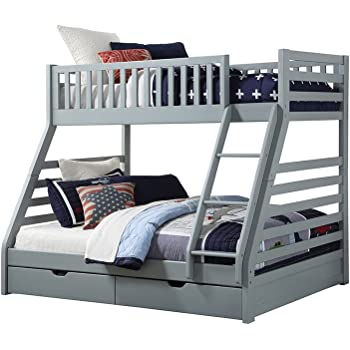 4329c2403a5b Sweet Dreams States Wooden Triple Sleeper Bunk Bed Frame Grey Wood with  Drawers