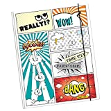 Online Schreibgeräte - Gummizugmappe Comic Style, DIN A4, Karton