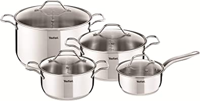 TEFAL Intuition Stainless Steel  Cooking Set 8 pieces pots and pans set,