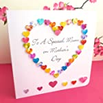 Hand Made Mother's Day Card - To A Special Mum - Colourful 3D Handmade Love Heart