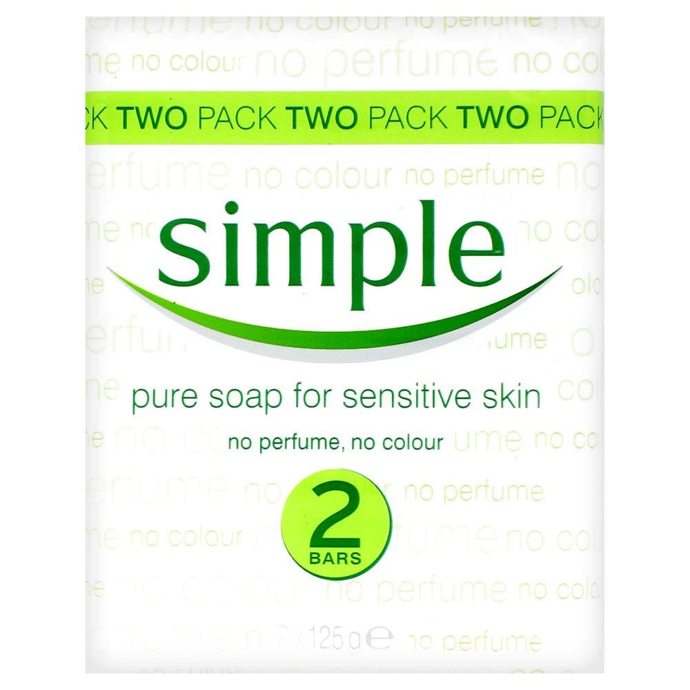 Simple Pure Soap for Sensitive Soap 125g (2 Bars)