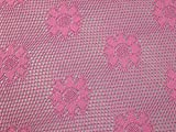 Netzstoff mit Häkeleffekt, Blumenmuster, Pink, Meterware