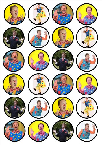 Image of Mr Tumble Edible PREMIUM THICKNESS SWEETENED VANILLA,Wafer Rice Paper Cupcake Toppers/Decorations