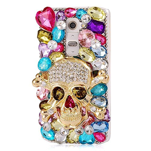 Handmade Sparkle Diamond Strass Besatz für LG K10 Alle Version Sprint Verizon T-Mobile Rückseite Cover Strass Bling carcasas Capa Telefon Hull, Pattern No.5: Halloween D¨¦COR ()