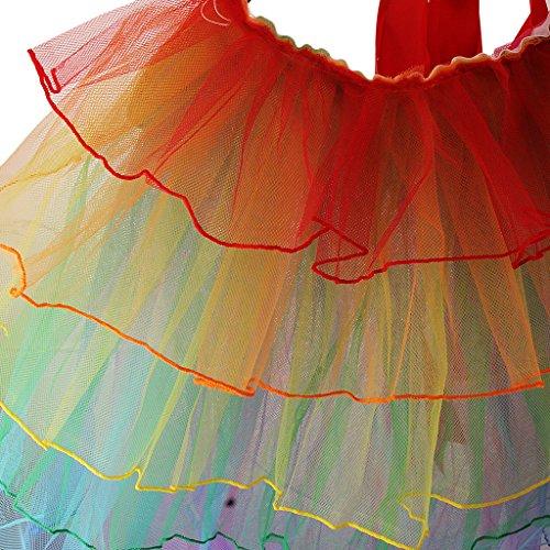 Femmes Jupe en Couches Multicolore Sexy Tutu Jupe Dentelle pr Fête Banquet Bal 3