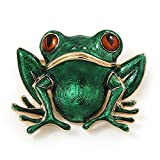 Verde 'sapo' en esmalte broche con forma de Metal chapado en oro