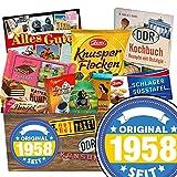Original seit 1958 | DDR Geschenkbox Schokolade | Schokolade Geschenkset M | Maulwurf Ei, Kalter Hund, Mokka Bohnen | 60 er Geburtstag Frau Schokolade Präsentkorb Geburtstagsgeschenke 60 Papa