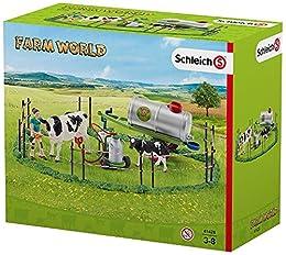 Schleich - Familia de Vacas en el Pasto (41428)