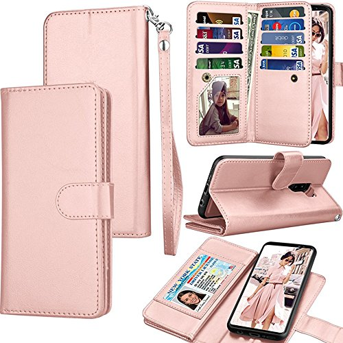 LG Fortune/LG Phoenix 3 Case,LG Aristo/Risio 2 Wallet Case,LG Rebel 2  LTE/LV3 PU Leather Case,Spritech Credit Card Slots Carrying Folio Flip  Cover