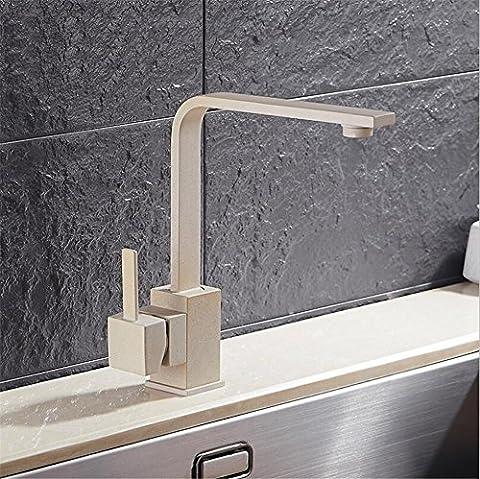 Muzyo Polierte schwarze Messing schwenkbare Küchenspüle Wasserhahn 360 Grad drehende Küchenmischbatterie , (4-loch Montage Hebelgriff)