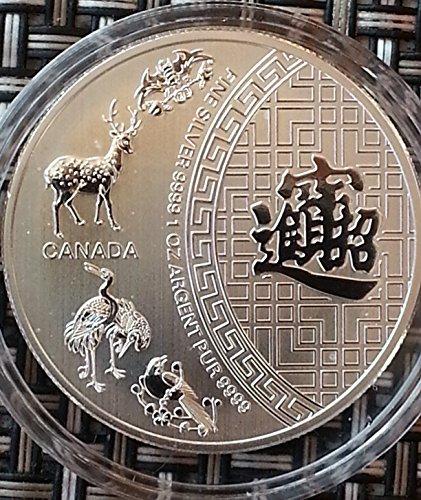 Kanada Maple Leaf Silber (1 Unze oz Silber Kanada Maple Leaf 2016 five 5 blessings bei uns einzeln in Münzkapseln verpackt)