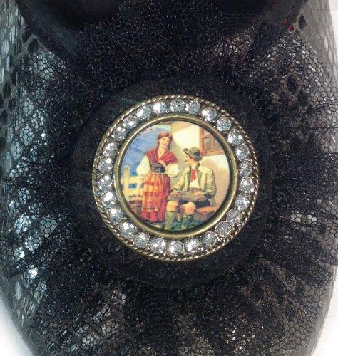 Pantofola Basso nero A Nero Noir Diva Femme top aaPRr6