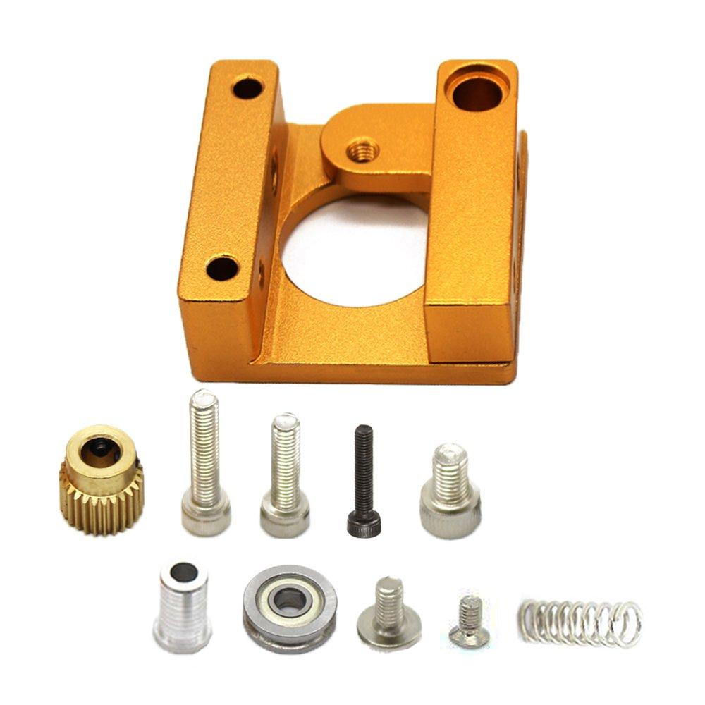 Zzanggu imprimante 3d MK8extrudeuse Cadre en aluminium Bloc kit DIY (main droite) pour MakerBot RepRap Prusa i3