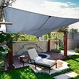 Sonnensegel, 3 x 4 m Markise, Terrasse, Sonnensegel, rechteckig, wasserdicht, für Garten, Balkon, Aktivitäten im Freien, Camping