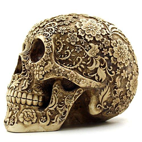 OULII Cráneo Humano Modelo Calavera Resina Decoración de...