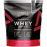 Amfit Nutrition Whey Protein Powder - 992 g (Strawberry)