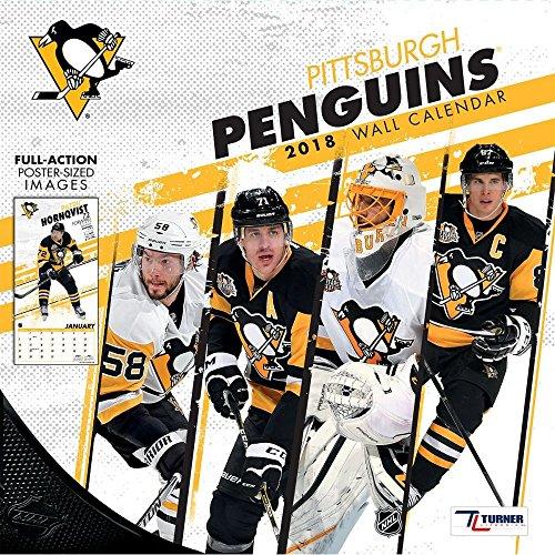 NHL Kalender Wandkalender 2018 30x60cm Pittsburgh Penguins