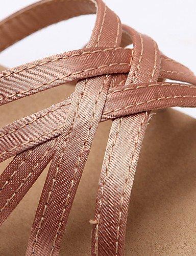 ShangYi Chaussures de danse ( Noir / Chocolat ) - Non Personnalisables - Talon Bobine - Flocage / Paillette Brillante - Latine / Salsa champagne