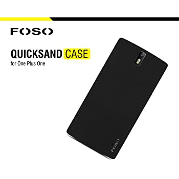 FOSO(™) OnePlus One QuickSand Back Case - QuickSand (Rough) Phone Cover Shell