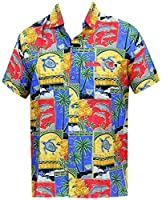 Point Collar Aloha Theme Button Up Hawaiian Shirt For Men 1688 Matching 1 3Xl Gift Spring Summer 2017