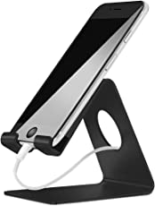 ELV 4mm Thickness Aluminum mobile Stand (3.5 - 8 inches) - Black