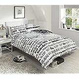 Texto del sueño (negro/blanco) Reversible modessimple cama doble King size edredón manta conjunto edredón, matrimonio