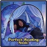4square Dreamworld Amazing Innovative Dream Fabric Tents Kids Pop Up Bed Tent Playhouse Winter Wonderland (Multicolour)