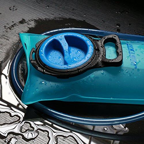 justkit Trinkblase 2L/70oz–Wasser Aufbewahrung Blase Tasche, Wasserreservoir Pack für Hydration Pack System. Ungiftig BPA-frei. Best für Radfahren, Camping, Wandern, Klettern,. Blau