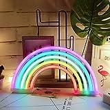 Luce al neon, Rainbow neon Sign Night Lights Wall Decor Home Decoration Light per bambini, camera da letto, regalo di compleanno, festa di nozze (arcobaleno) Rainbow-5colour