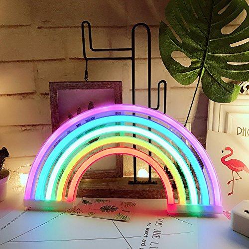 Neonlicht, LED-Schild, dekoratives Licht, Festzelt, Wanddekoration für Chistmas, Geburtstagsparty, Kinderzimmer, Wohnzimmer, Hochzeit, Party-Dekoration Rainbow-5colour