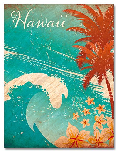 Glitter ornamentierter Magnet - Hawaiian Wave von Paccottiglia (Hawaiian Wave)
