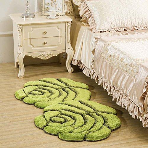 Rose Boden Badteppich Läufer Nachttisch Teppich für Schlafzimmer–flauschig Romantic Rose Ultra Weiche Teppich Bereich Teppich 28von 139,7cm, Polyester-Mischgewebe, grün, 35 by 63 Inch (Grün-aisle Runner)