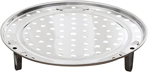TENDYCOCO 22cm Stainless Steel Round Steamer Rack Three-Legged Pots Steaming Stand Home Kitchen Cooking Tool M