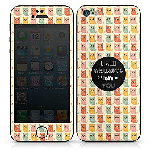 Apple iPhone SE Case Skin Sticker aus Vinyl-Folie Aufkleber Valentinstag Geschenk Geschenkidee DesignSkins® glänzend