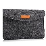 MoKo Universal 7-8 Zoll Felt Sleeve Hülle - Tragbare Filz Schutzhülle Tasche für Apple iPad mini 1 / 2 / 3 / 4, Samsung Galaxy Tab S2 8.0, E 8.0, Tab A 8.0, Tab 4 7.0/8.0, Tab E Lite 7.0, Dunkelgrau