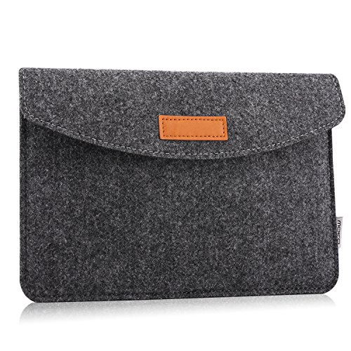 MoKo Amazon 7-8 Zoll Felt Sleeve Hülle - Tragbare Filz Schutzhülle Tasche Fire HD 8 2016, Fire Kids Edition(5th Gen, 2015), All-New Kindle(8th Gen, 2016), Kindle Oasis, Fire 7, Dunkelgrau